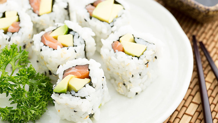 Avocado Sushi Dishes in Dubai – Sushi Art and Many More