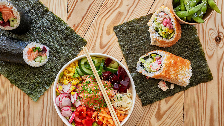 Supersize your roll and chow down on a sushi burrito
