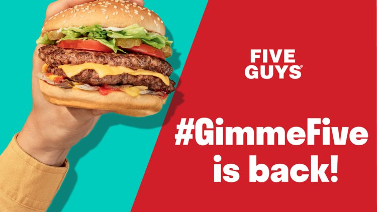Win with Five Guys and Deliveroo